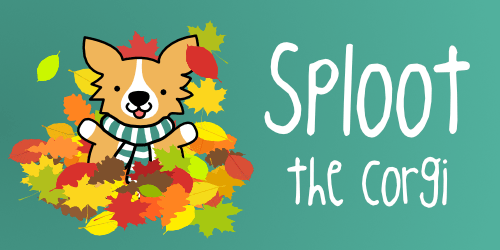 Sploot the Corgi Fall Promo art
