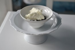 dark chocolate pudding with homemade whip cream