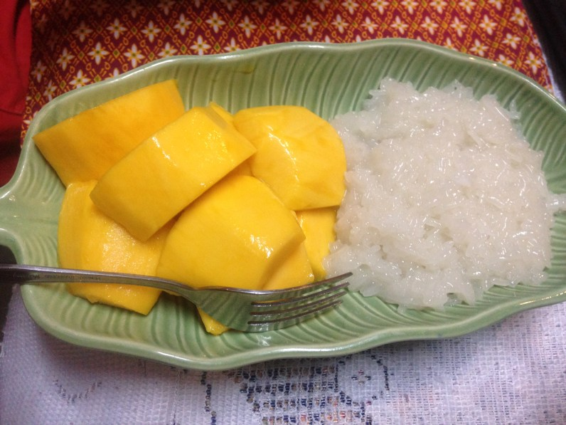 mango and coconut sticky rice