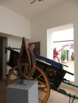 Carts inside the museum