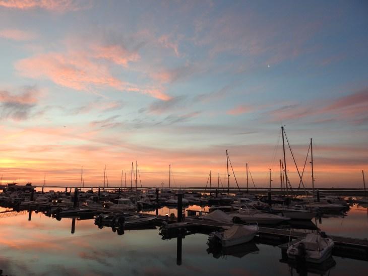 Olhao marina at Sunrise