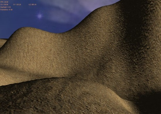 BUMP MAPPING: Normal map used to disturb normal on terrain and water surfaces...