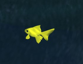 Fish under water glow at night. Faked: Diffuse value altered based on time of day.