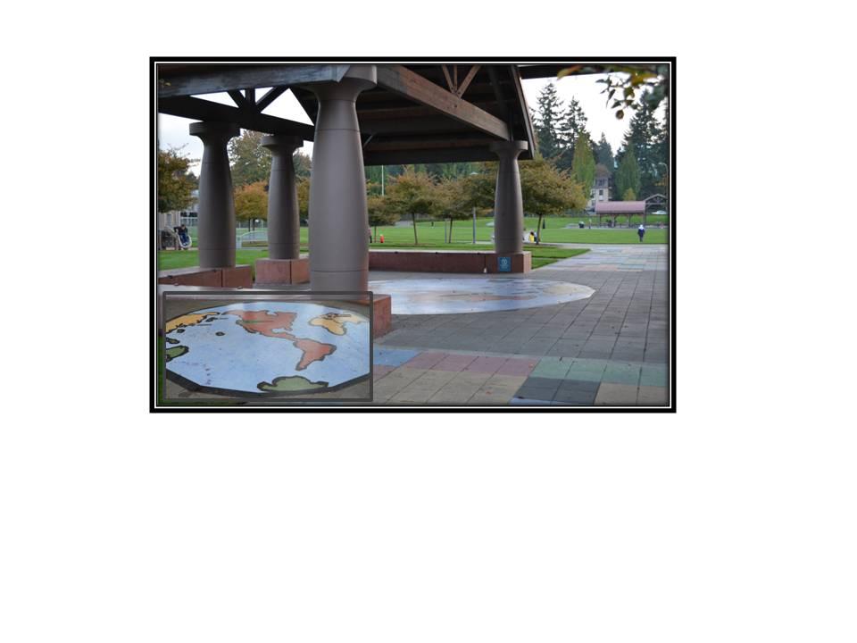 Bellevue Sister-City Mosaic, Crossroads Park