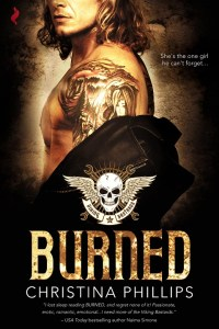 Burned by Christina Phillips cover