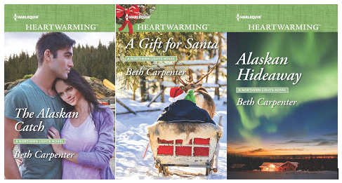Nothern Lights series: The Alaskan Catch, A Gift for Santa, and Alaskan Hideaway covers