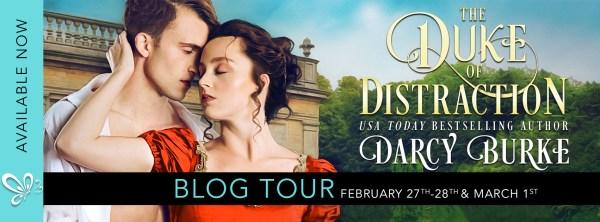 The Duke of Distraction blog tour banner