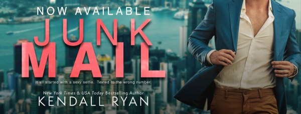 Now available JUNK MAIL by Kendall Ryan  tour banner