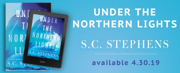 Under the Northern Lights by S.C. Stephens Available 4/30/19 banner