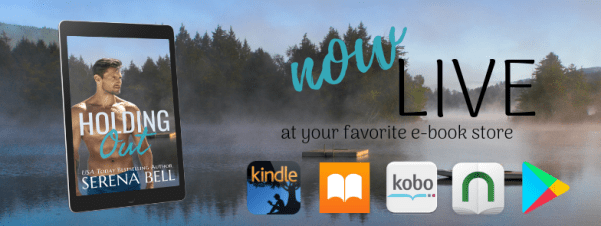 HOLDING OUT now live at your favorite e-book store release day banner
