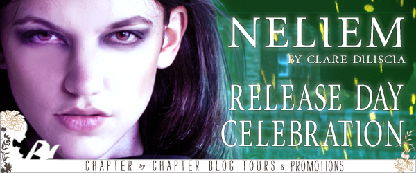 Neliem by Clare Diliscia release day celebration banner