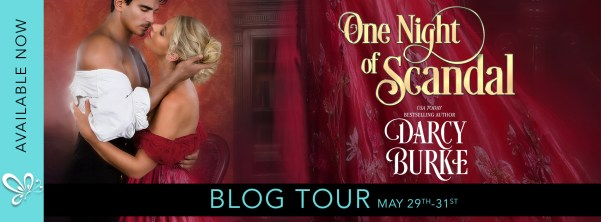 One Night of Scandal blog tour banner