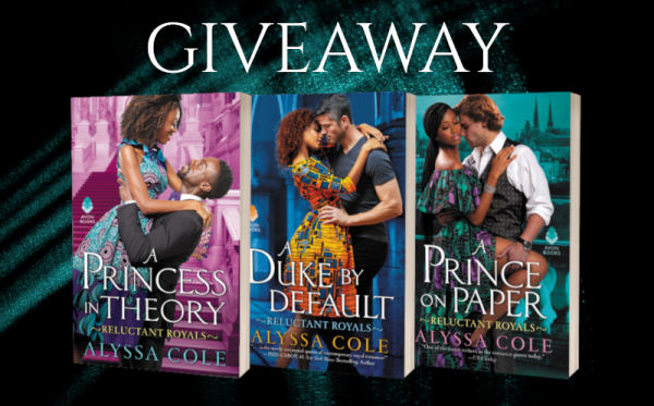 Giveaway graphic (covers of books 1-3 in the series)