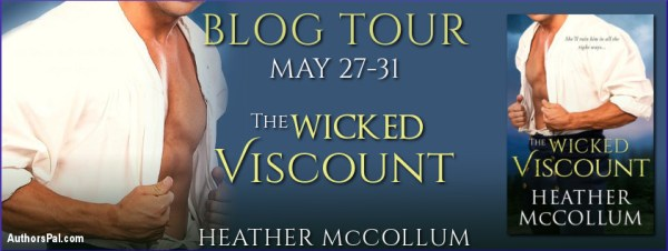 The Wicked Viscount blog tour banner