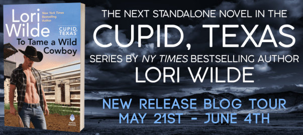 The next standalone novel in the Cupid, Texas series by NYT bestselling author Lori Wilde New release blog tour banner