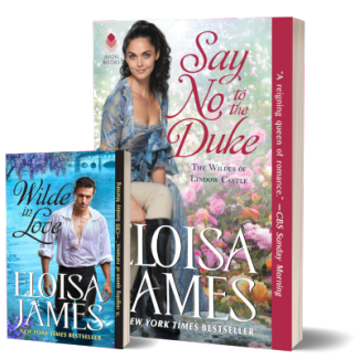 Say No to the Duke giveaway graphic (print copy of Wilde in Love)