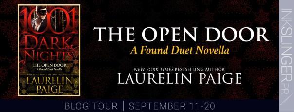 The Open Door  A Found Duet novella blog tour banner