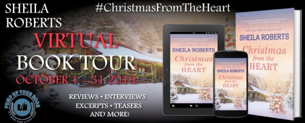 Christmas From the Heart by Sheila Roberts virtual book tour banner