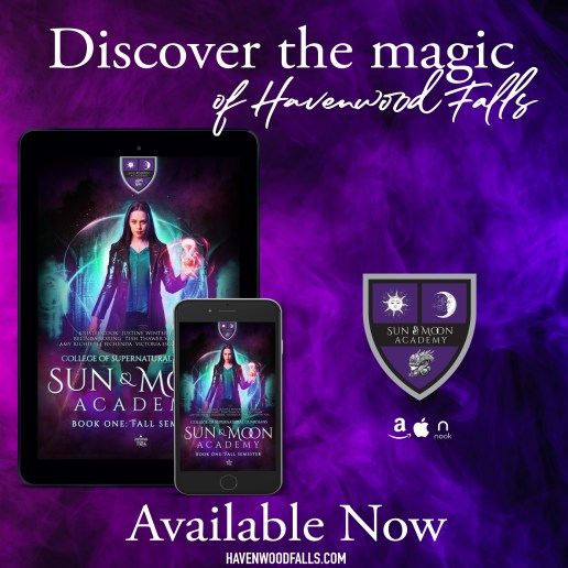 Discover the magic of Havenwood Falls Sun & Moon Academy available now banner