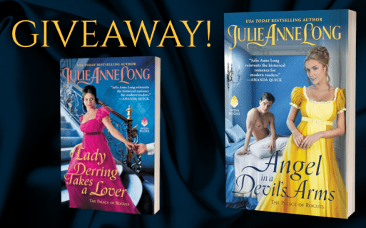 Giveaway! Covers of Lady Derring Takes a Lover and Angel in a Devil's Arms