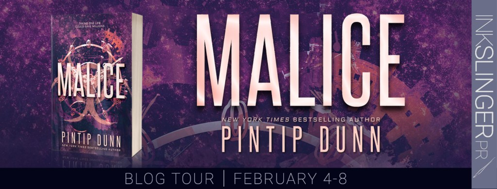 Malice blog tour banner