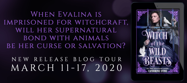 When Evalina is imprisoned for witchcraft, will her supernatural bond with animals be her curse or salvation? WITCH OF THE WILD BEASTS tour banner