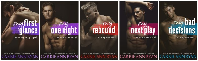 Series banner with covers My First Glance My One Night My Rebound My Next Play My Bad Decisions