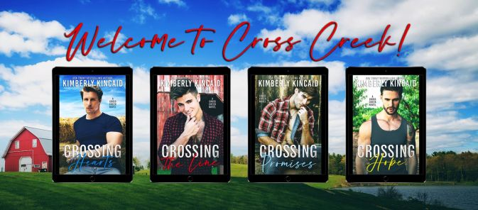 Welcome to Cross Creek! banner Crossing Hearts, Crossing the Line, Crossing Promises, Crossing Hope covers