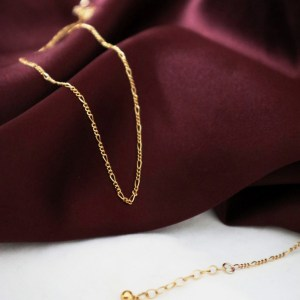 Figaro Chain Necklace - Gold