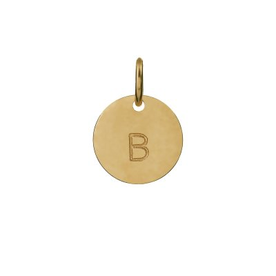 Mini Gold Personalised Disc Charm