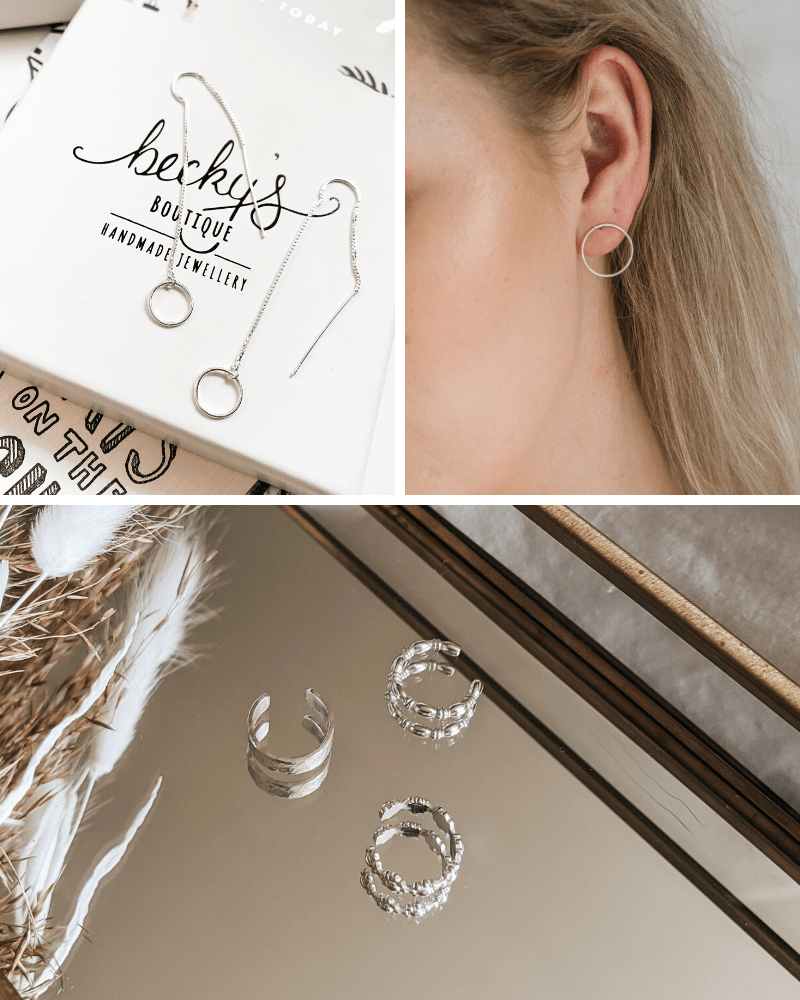Step away from predictable crystal earrings and try trendy new shapes and styles like chain earrings, ear cuffs, and front hoops