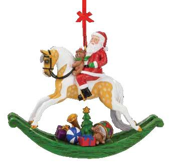 Santa Rocking Horse Ornament.