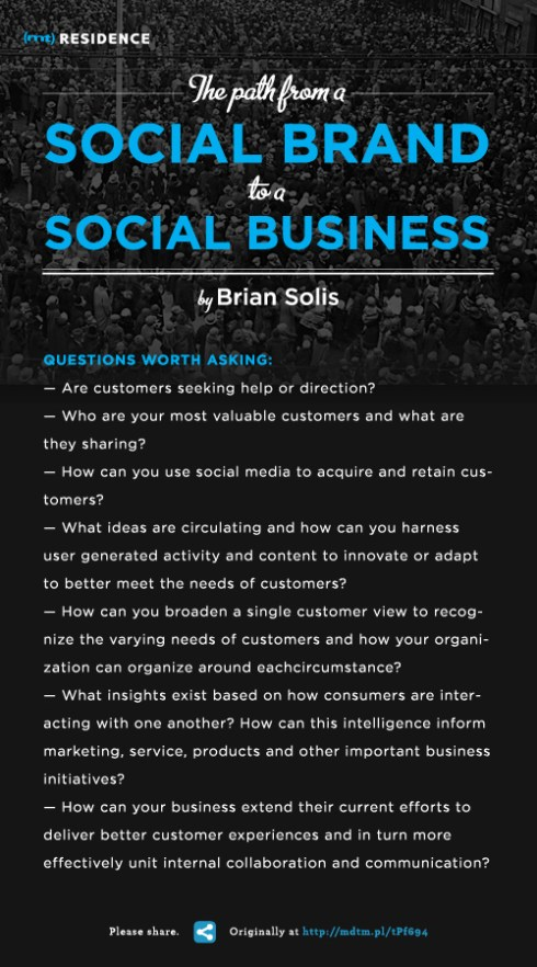 Poster on building a social business