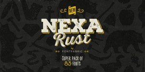 Nexa Rust fonts