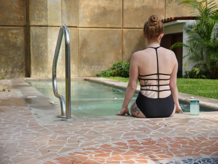 becky-stern-mexico-chromat-suit-pool