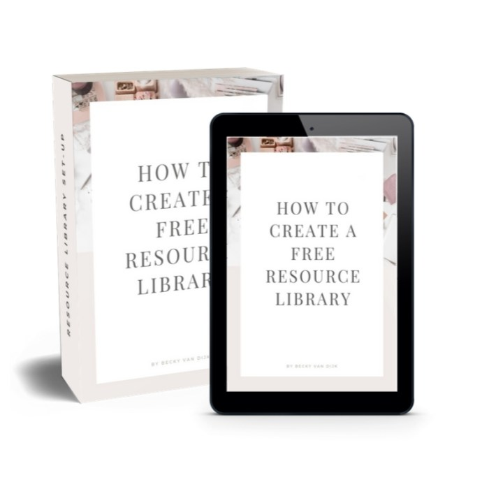 Create a Resource Library eBook
