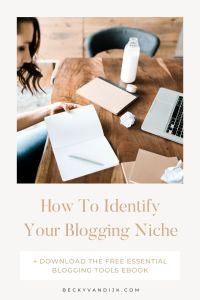 how to define your blogging niche pinterest cover