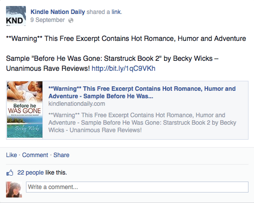 My experience with a kindle nation daily romance of the week screen shot 2014 09 11 at 160612 fandeluxe Gallery