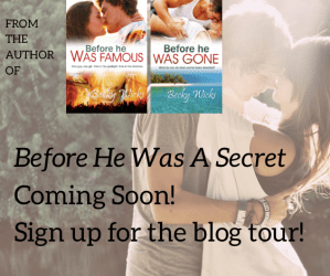 Before He Was A Secret Blog tour sign ups are live. I'm looking for bloggers to join in (and get a free copy!)