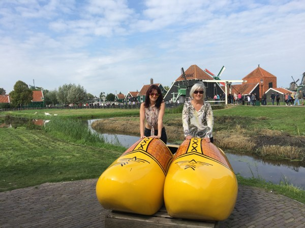 Giant clogs in Amsterdam