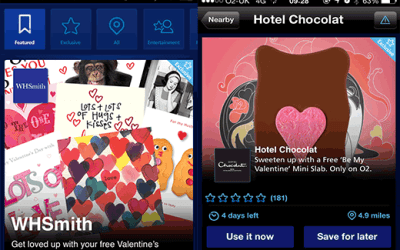 Valentines Freebies on O2