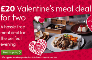 Valentines Meal Deal