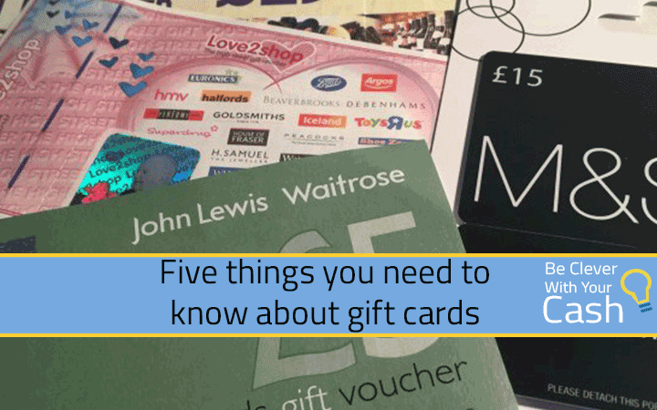 Five things you need to know about gift cards