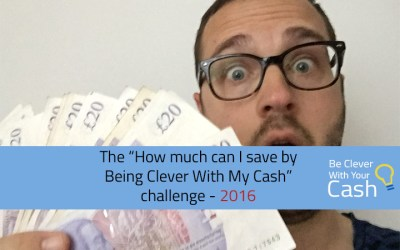 """The """"How much can I save by being Clever With My Cash"""" challenge"""