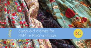 Swap old clothes for H&M or M&S vouchers