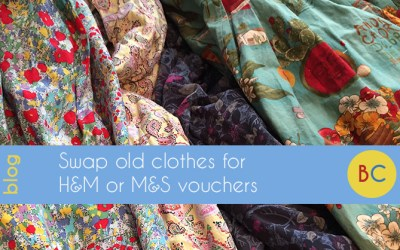 Swap old clothes for H&M, M&S or New Look vouchers