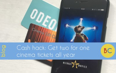 Get 2 for 1 cinema tickets all year for just £1.10