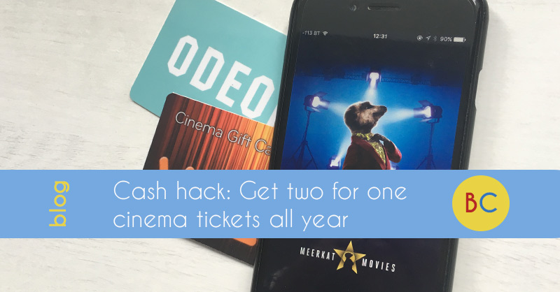 Get 2 for 1 cinema tickets all year for just £1.10 with Meerkat Movies