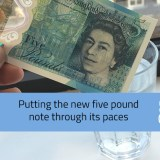 Testing the new five pound note