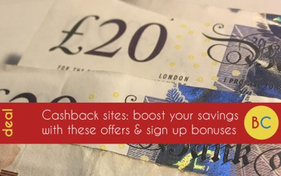 Cashback sites: Boost with a sign up bonus
